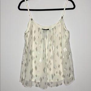 WHBM spaghetti strap white blouse size Medium